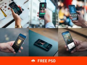 A set of iPhone 6 Photorealistic free PSD Mockups