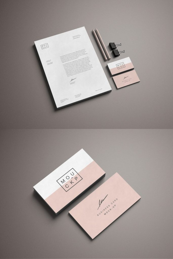 Business Card and Desk Collection Mockup