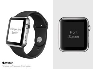 Apple Watch Template free PSD mockup