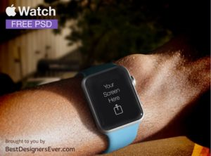 Apple Watch on Arm free PSD Mockup