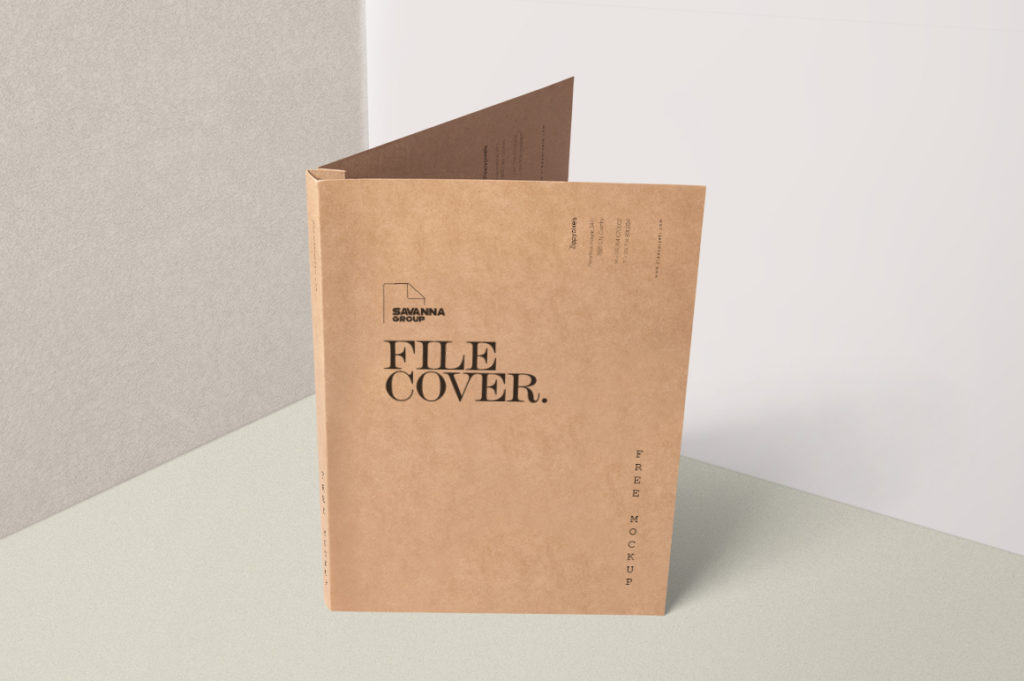 Standing Paper File Cover  free psd Mockup