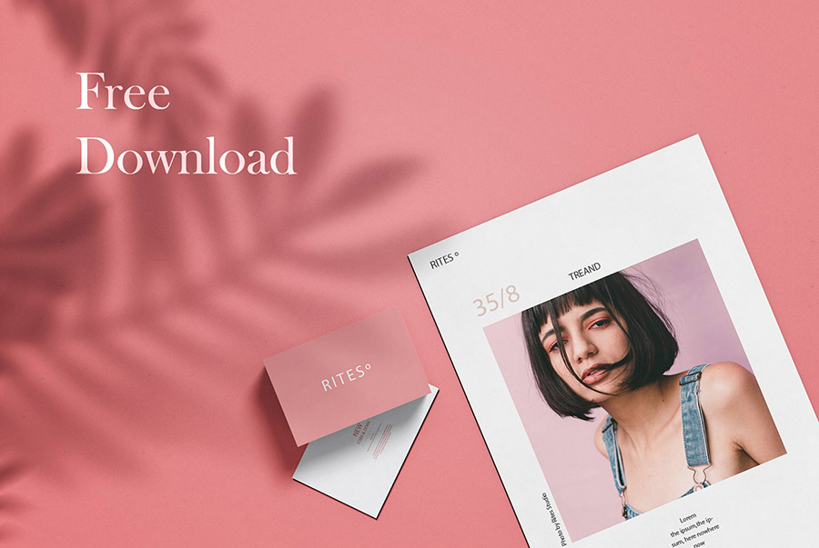Fashionable Business Card Mockup