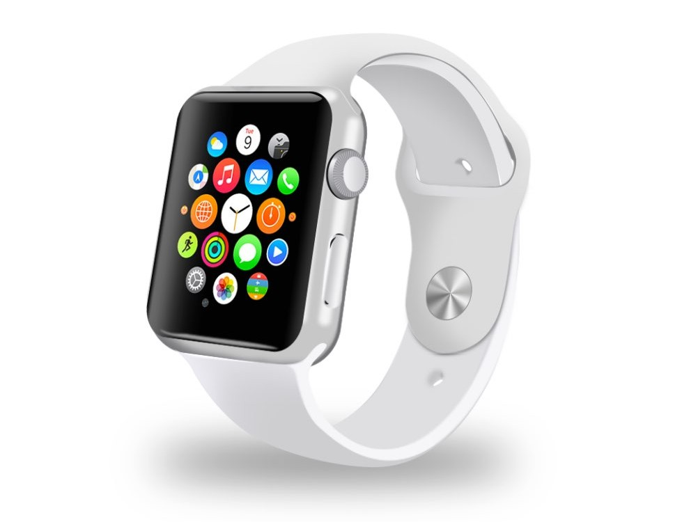 White Apple Watch free PSD Mockup