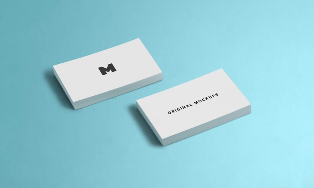 Clear Design of Business Card Mockup