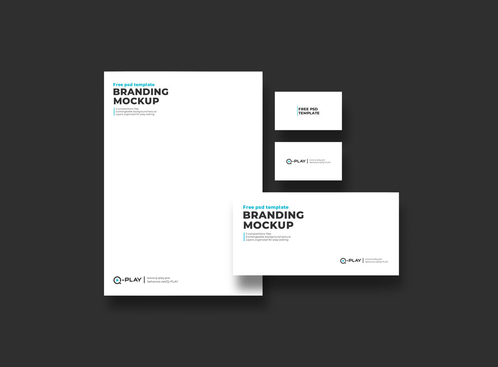 Branding Mockup Set of Business Card