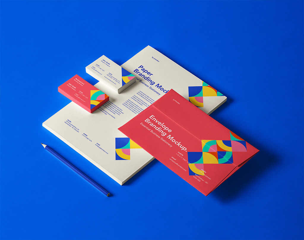 Branding Business Card Collection Mockup