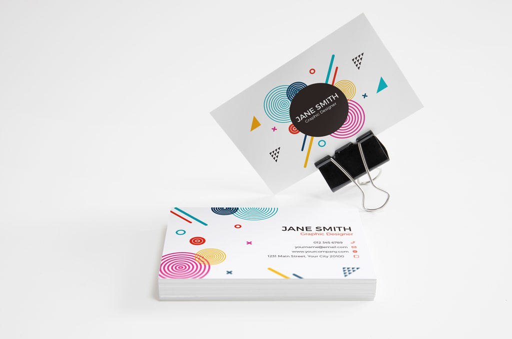 Various Shots For Business Card Mockup