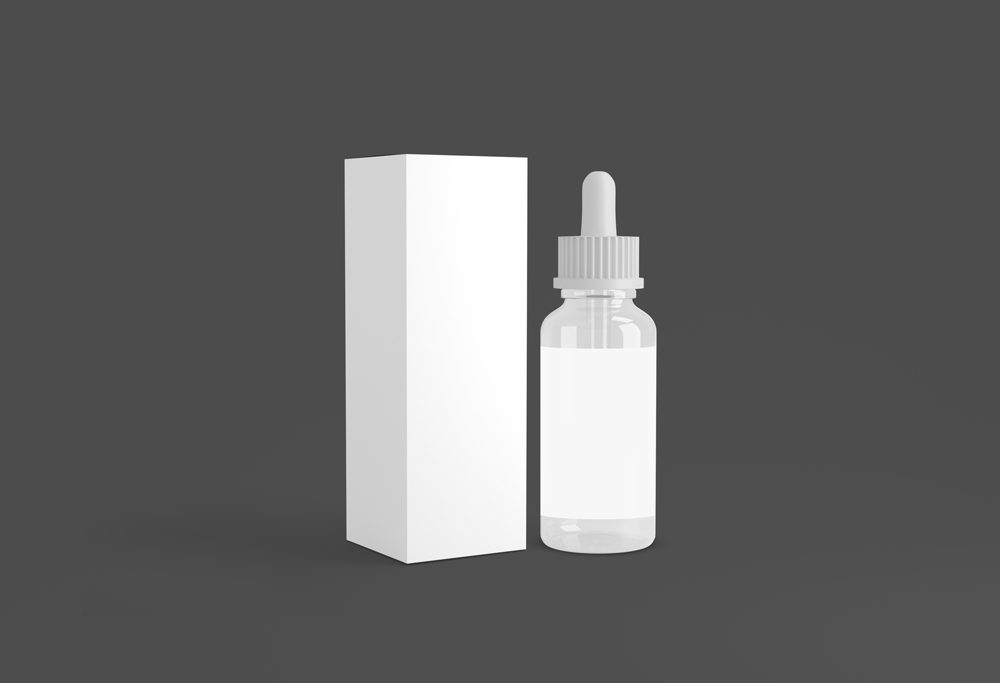 Dropper Bottle with Box free PSD Mockup