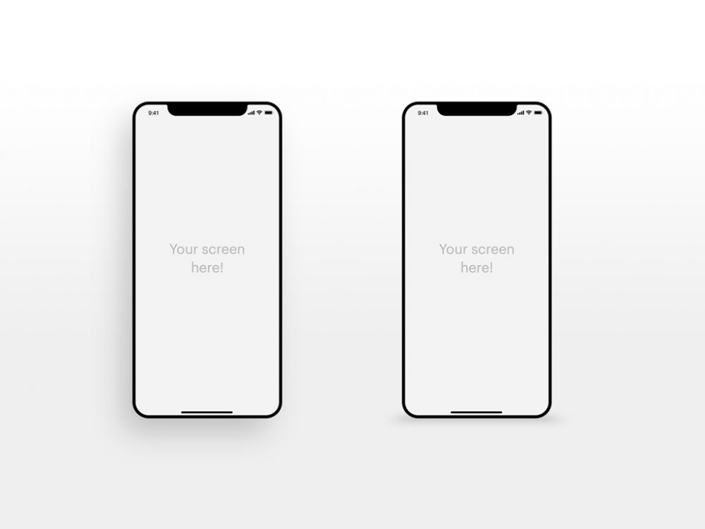 Minimal iPhone XS free PSD Mockup