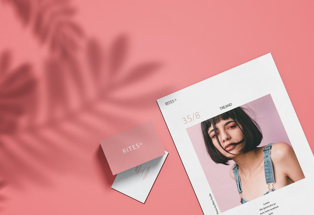 Magazine Cover and Cards free PSD Mockup