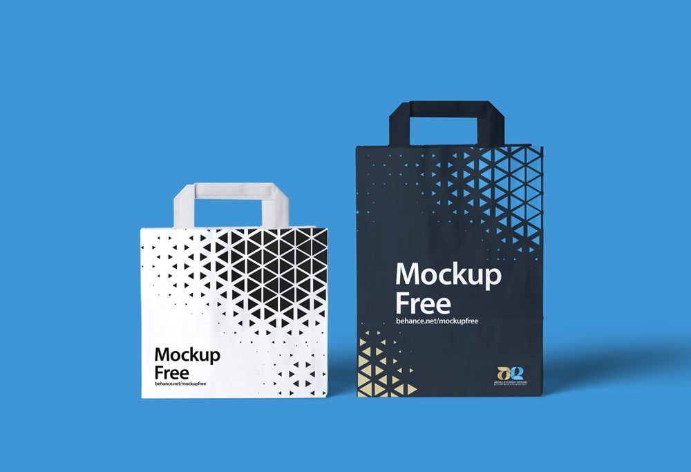 Two Paper Bags free PSD Mockup