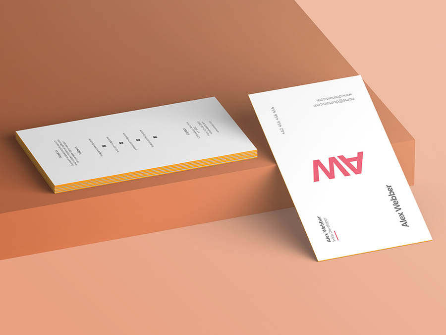 Simple Free PSD Mockup of Business Card
