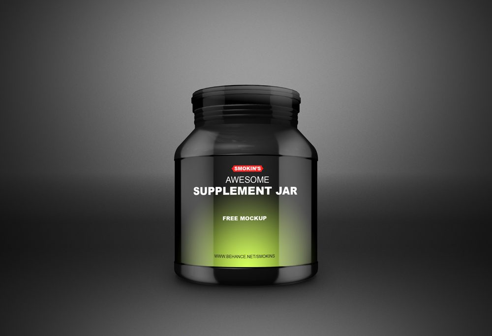 Supplement Jar free PSD Mockup