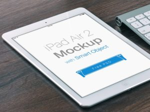 iPad Air with four filters Mockup
