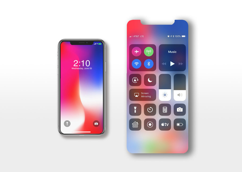 iPhone X free PSD Mockup Set