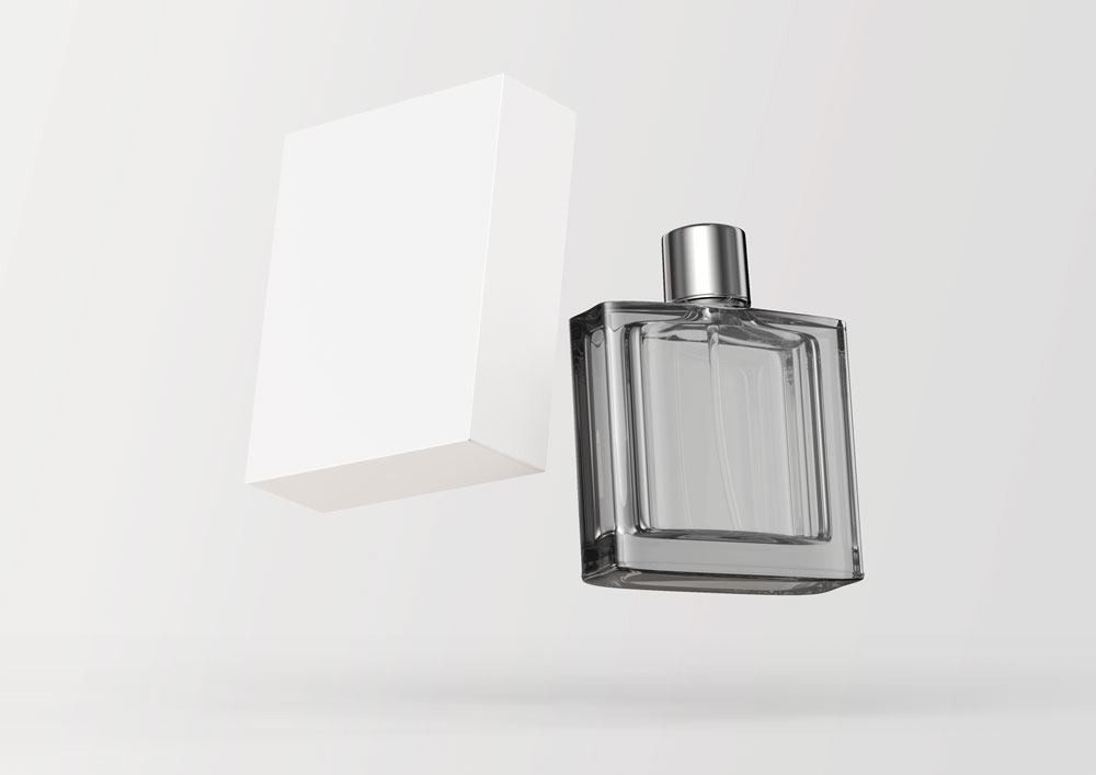 Floating Perfume Packaging Mockup Free