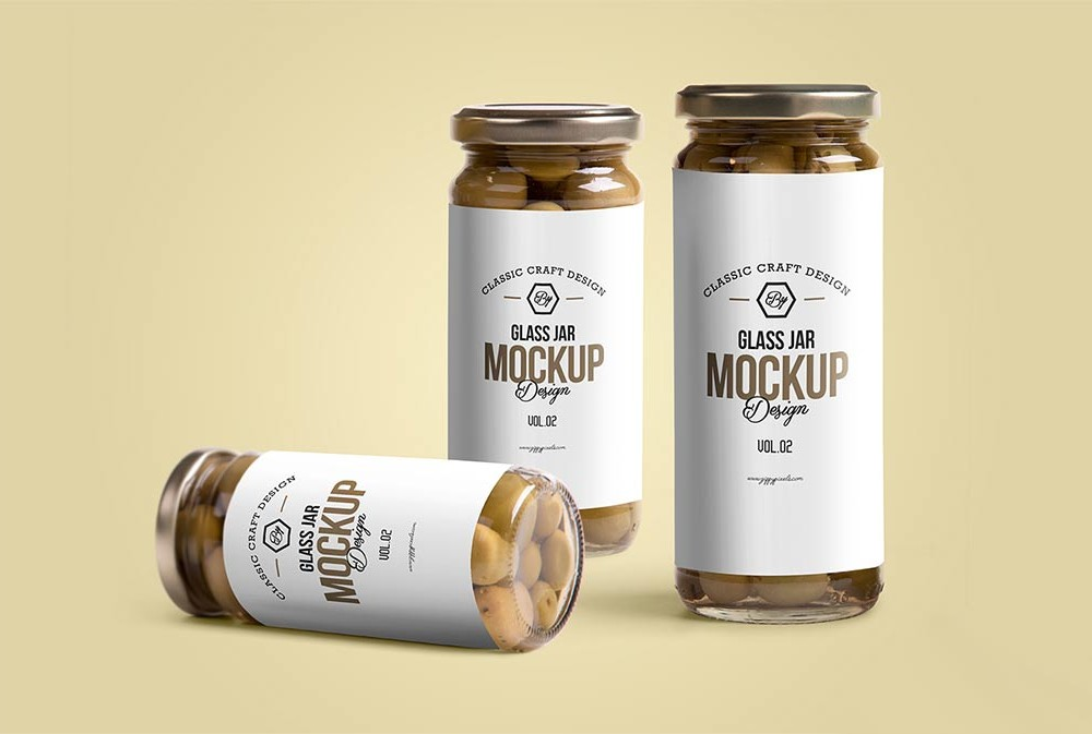 Glass Jars Mockup