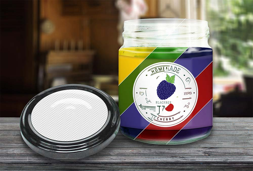Colorful Jar PSD Mockup