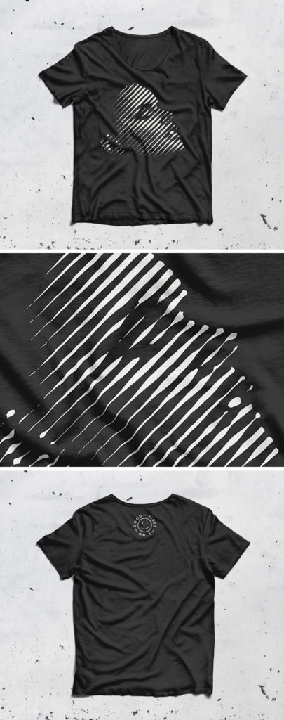Black and White T-Shirt Mockup