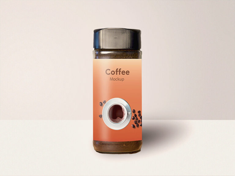 Coffee Glass Jar Mockup