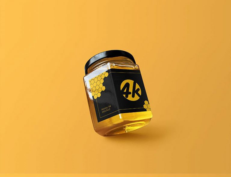 Free Honey Jar PSD Template