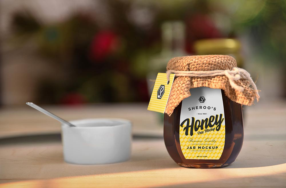 Gorgeous Honey Jar Mockup