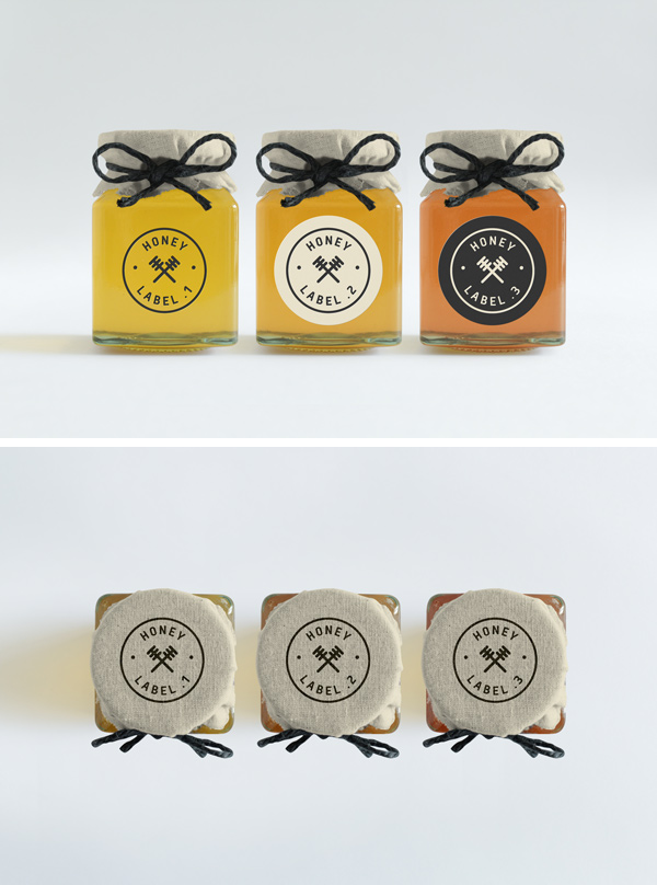 Cute Set of Jars Mockup