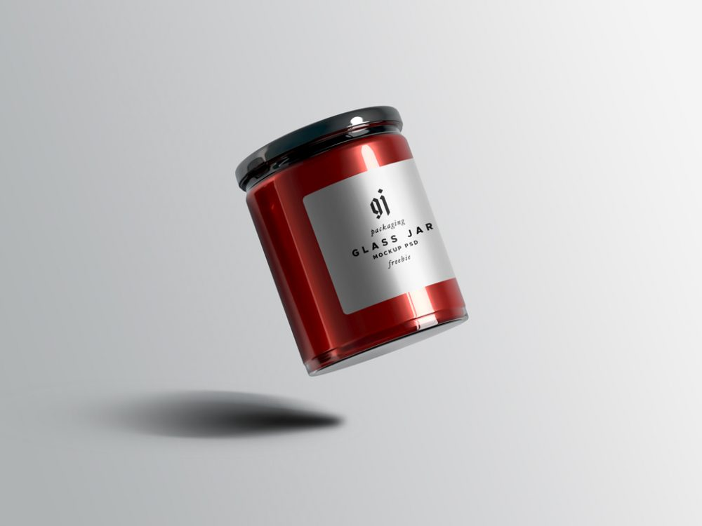 Floating Glass Jar Mockup