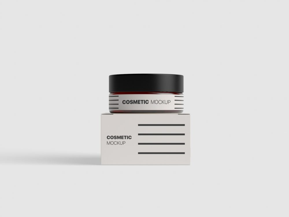 Minimal Cosmetic Jar Template
