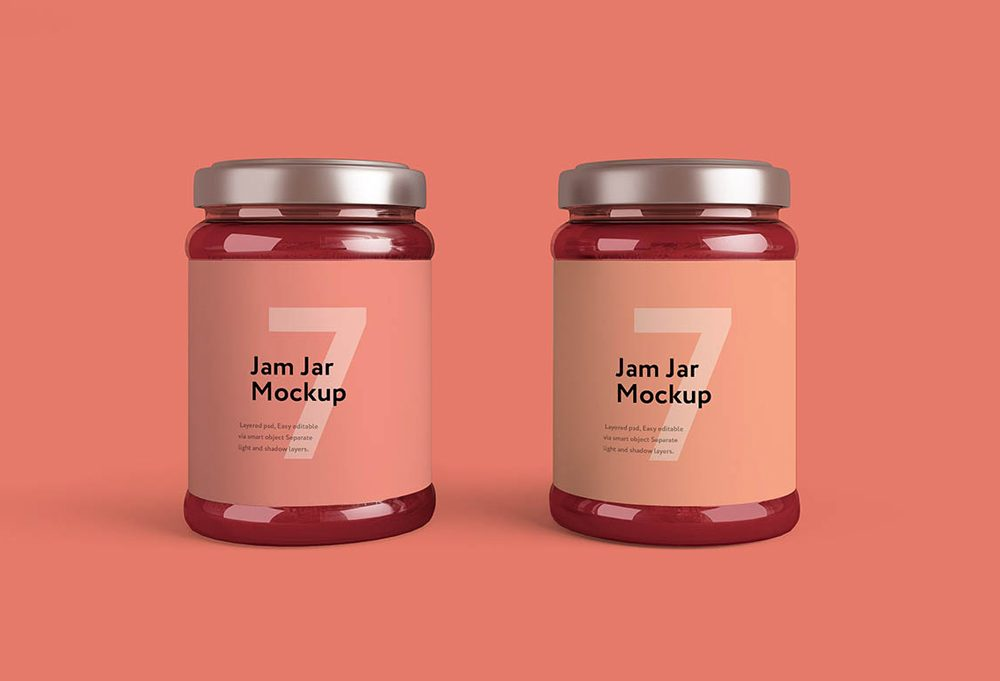 Set of Jam Jars Mockup