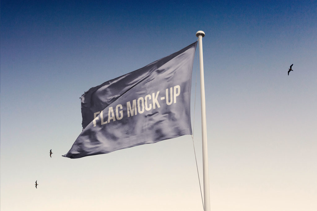 Free Looped Flag Mockup