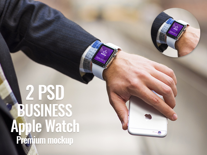 Apple Watch Business Edition Mockup