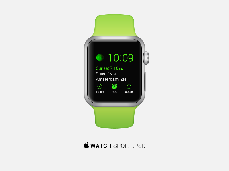 Apple Watch sport Mockup