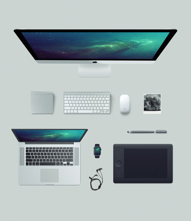 Apple free mockup kit