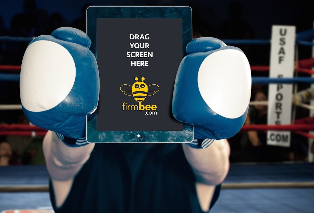 A Boxer with iPad Mockup