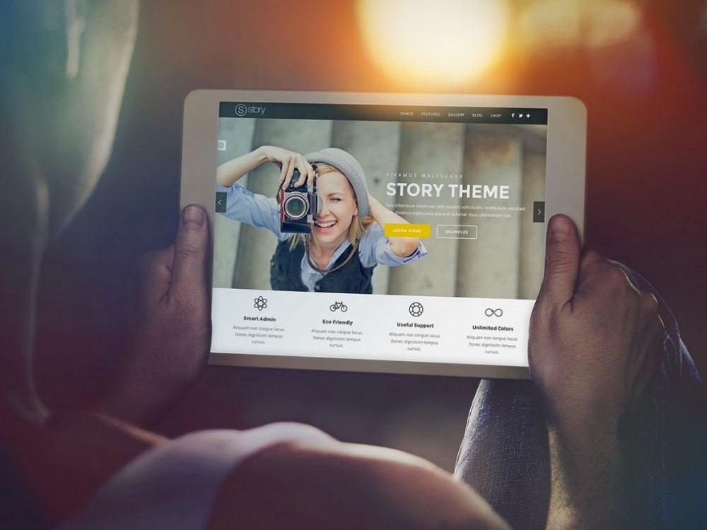 Cinematic iPad Mockup