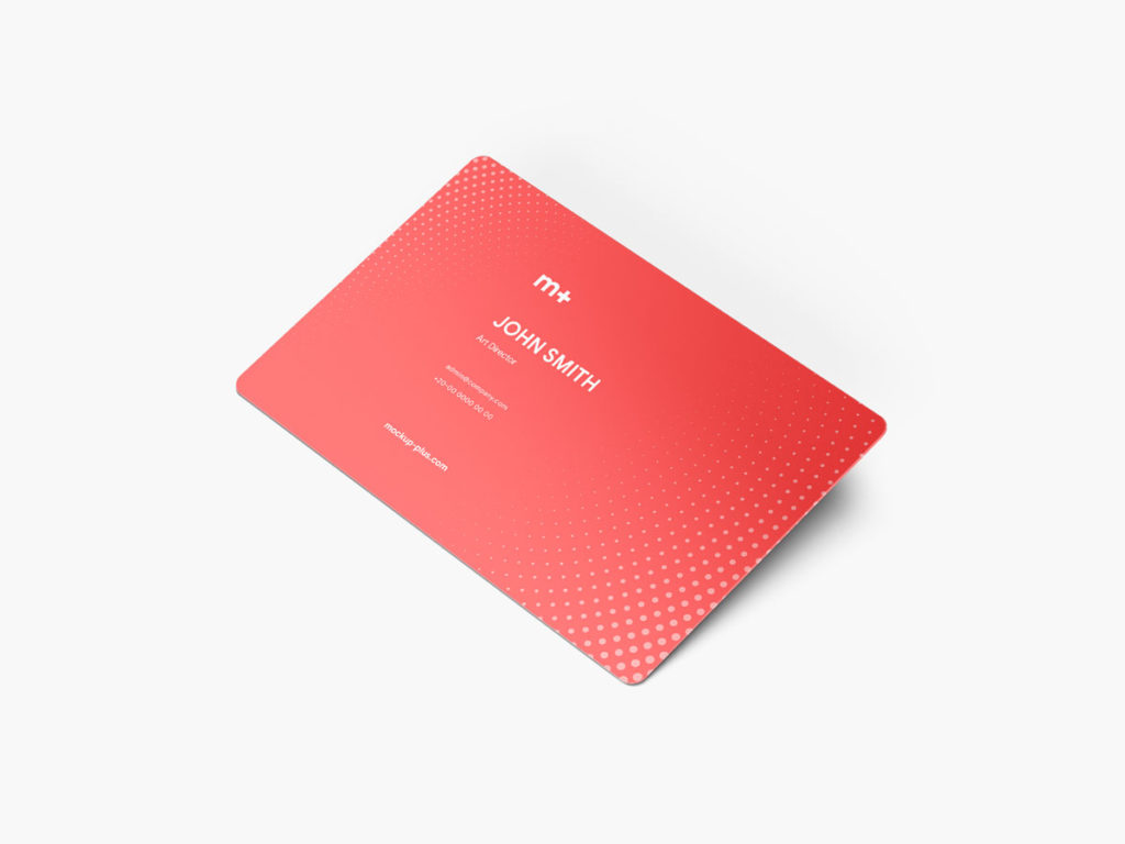 Business Card Mockup Round Corners Set