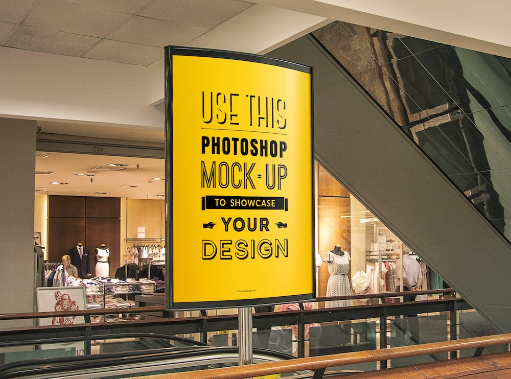 Indoor Advertising Billboard MockUp