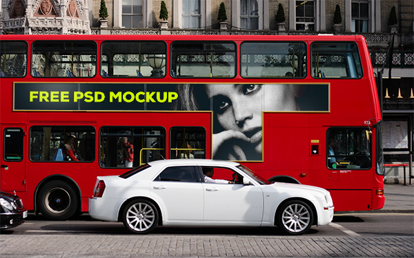 London Bus Advertising Mockup