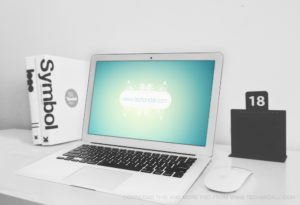 MacBook Air on Desk Mockup