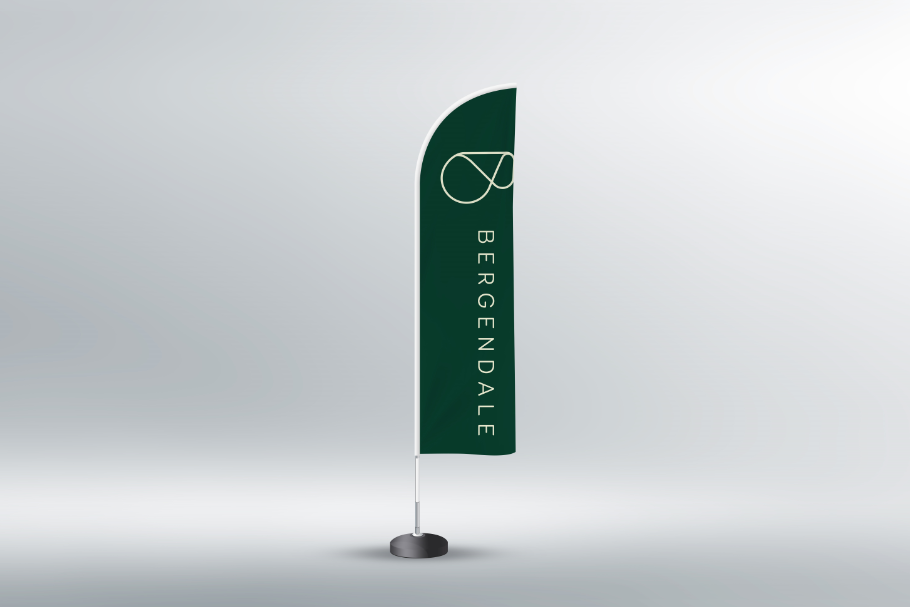 Decent Feather Flag Template