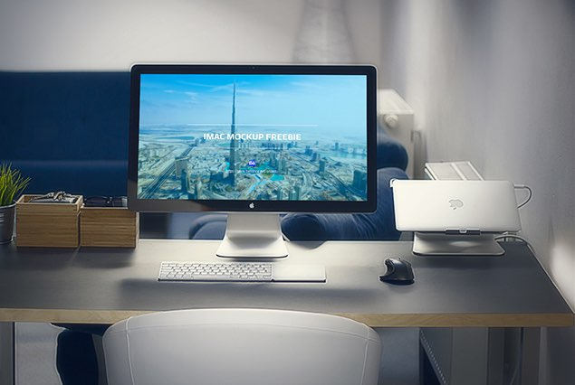 iMac in Office Mockup