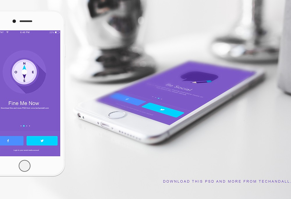 iOS App Showcase Mockup