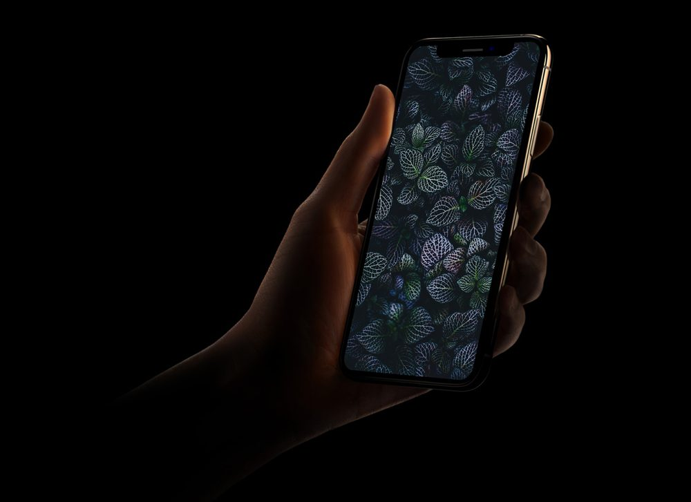 Free iPhone Mockup in Dark Style