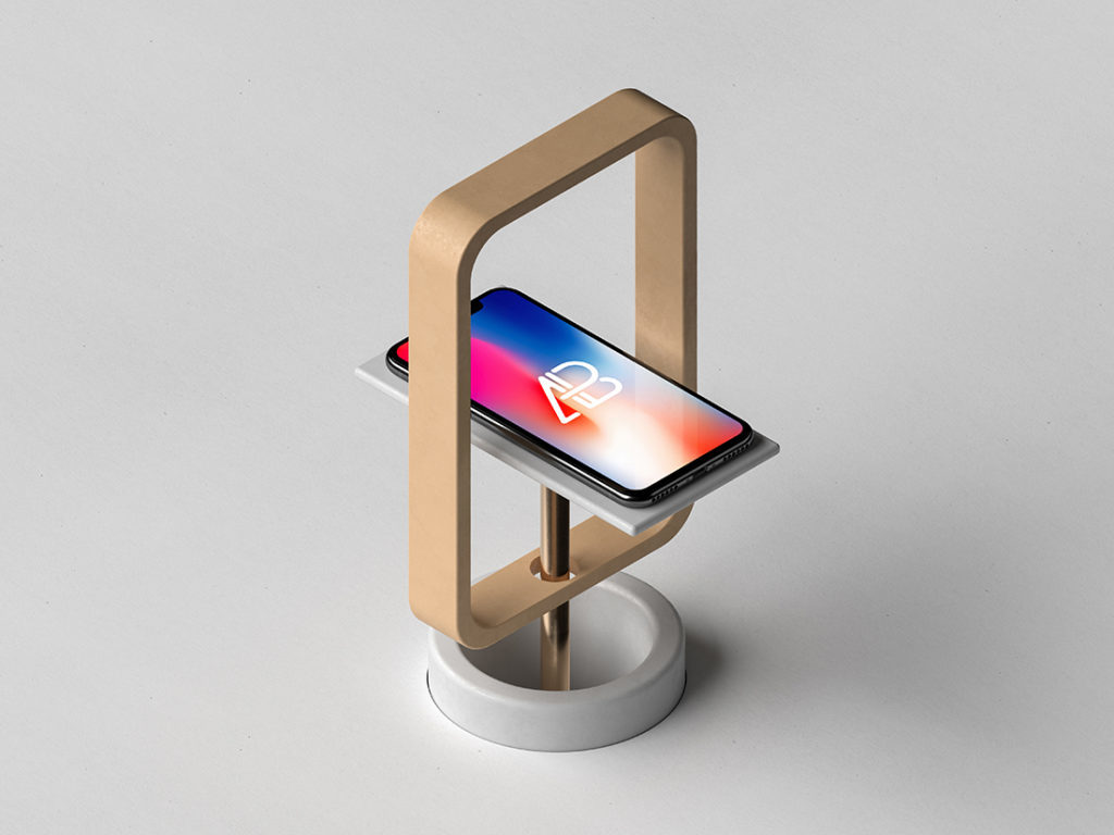 Free iPhone X Plus Stand Mockup