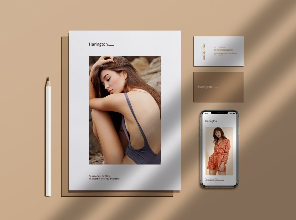 Stationery Screen With iPhone Mockup