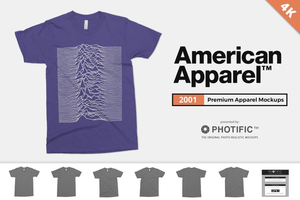 American Apparel 2001 Shirt Mockups