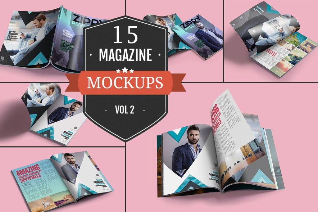 Awesome Magazine PSD Mockups Vol. 2