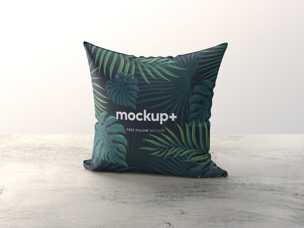 Standing Square Pillow Mockup Free PSD