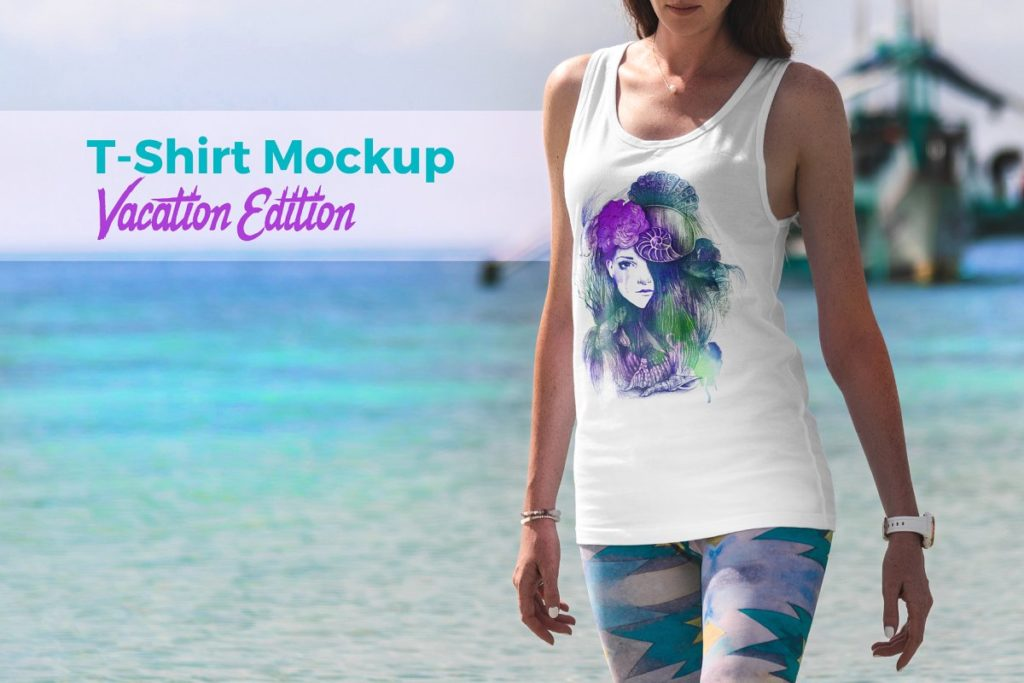 T-Shirt Mockup Vacation Edition